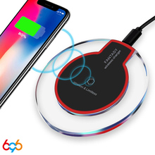 696 Qi Crystal wireless charge phone charger wirele