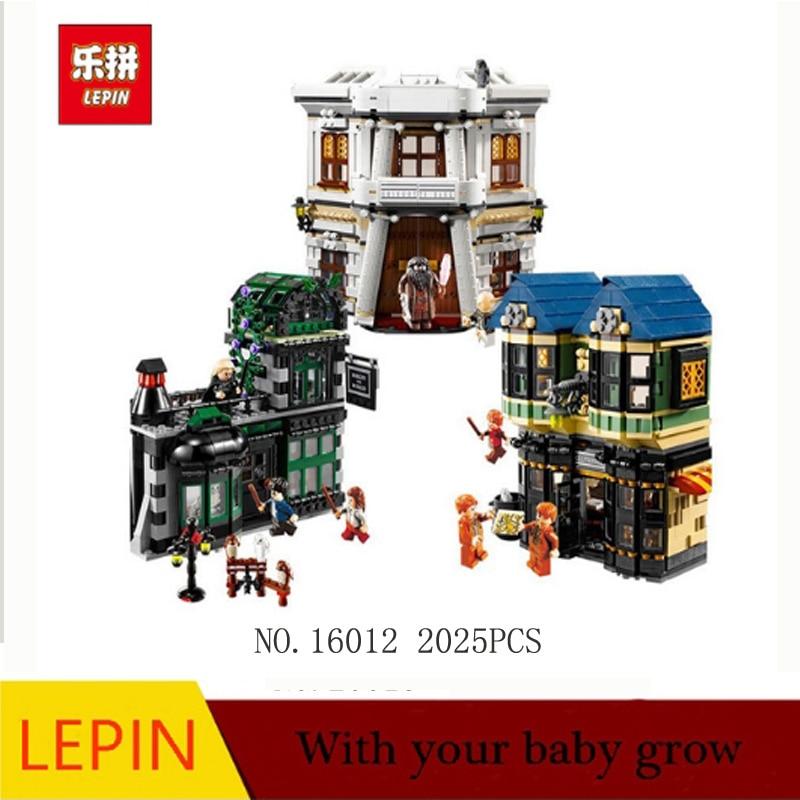 DHL Lepin 16012 Film Serie Die Winkelgasse Set Bausteine Bricks Modell Spielzeug Klon 10217 Auf Lager star wars 821 stucke lepin 05090 echten kuhlen die sail barge set kinder padagogische bausteine spielzeug modell 6210