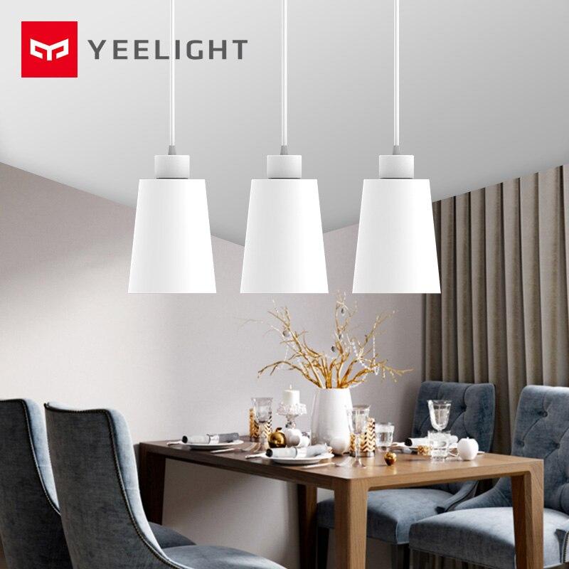 Original xiaomi Mijia Yeelight lustre, E27 a boca do parafuso, trabalhar com Yeelight blub Para xiaomi smart home kit luz de teto