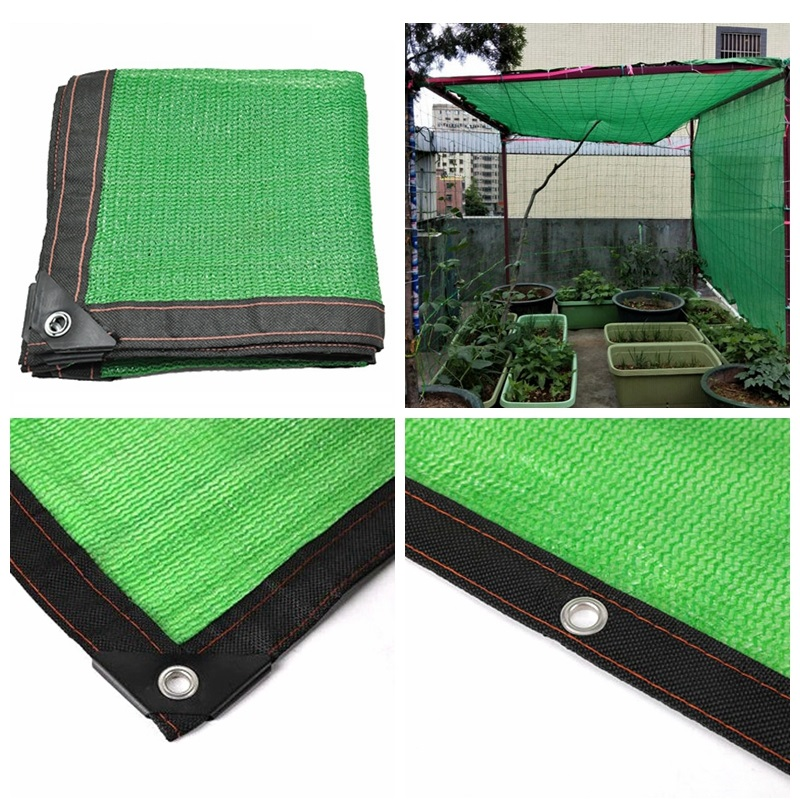 Tewango Green Anti-UV HDPE Sunshade Net Outdoor Awning Garden Swimming Pool Shade Net Succulent Plant Cover Shelter Shading Net