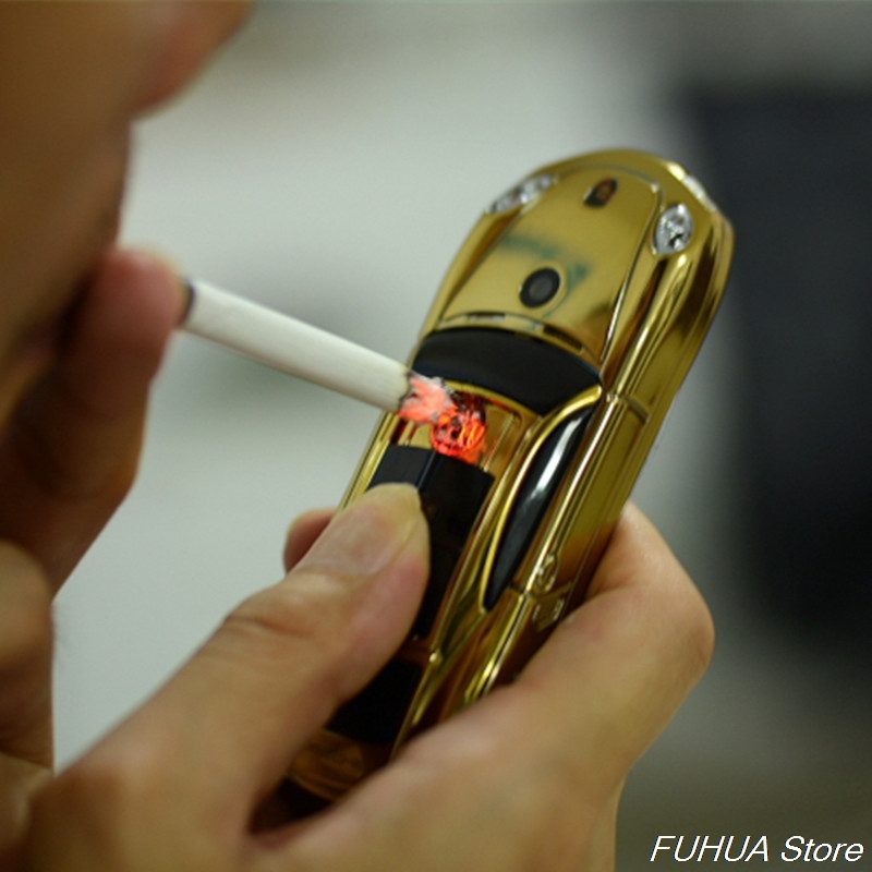 Cute Small Bar Car Model Phone With Electronic Cigarette Lighter Y918 Dual Sim Cellphone Flashlight GPRS