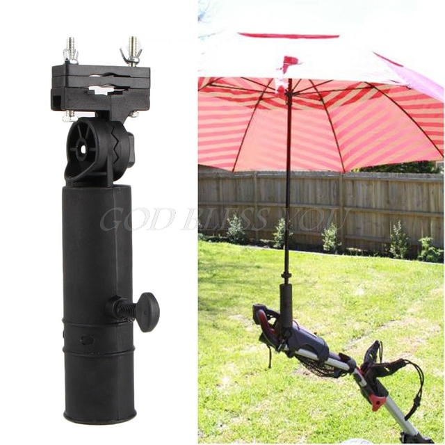 Free Shipping Durable Golf Club Umbrella Holder Stand For Bike Buggy on wheelchair stand up and play, courtesy cart, grocery cart,