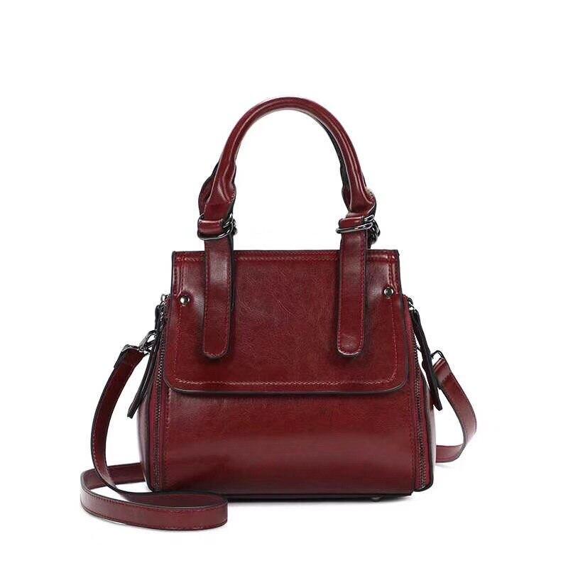 2018 w nowym stylu bezpłatny transport Trend w modzie damska torba na jedno ramię luksusowe skórzane damskie retro mody torebki w Torby z uchwytem od Bagaże i torby na  Grupa 1