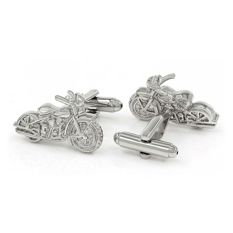 Motorbike Cufflinks Souvenir Motorcycle Cuff Link Silver Plated Fathers Day Gifts