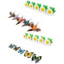 Funny Pet Cat Kitten Play Toy Electric Rotating Butterfly bird Steel Wire Cat Teaser For Pet Play Toy