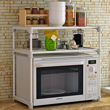 Storage rack Kitchen microwave oven Shelf Spray paint Iron pipe Assembly can be removed Multifunction household kitchen shelves