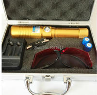 Strong Power Military Blue Laser Pointers 500000m 450nm LAZER Burning Match/Dry Wood/Black/Cigarettes+Glasses+Changer+Gift Box