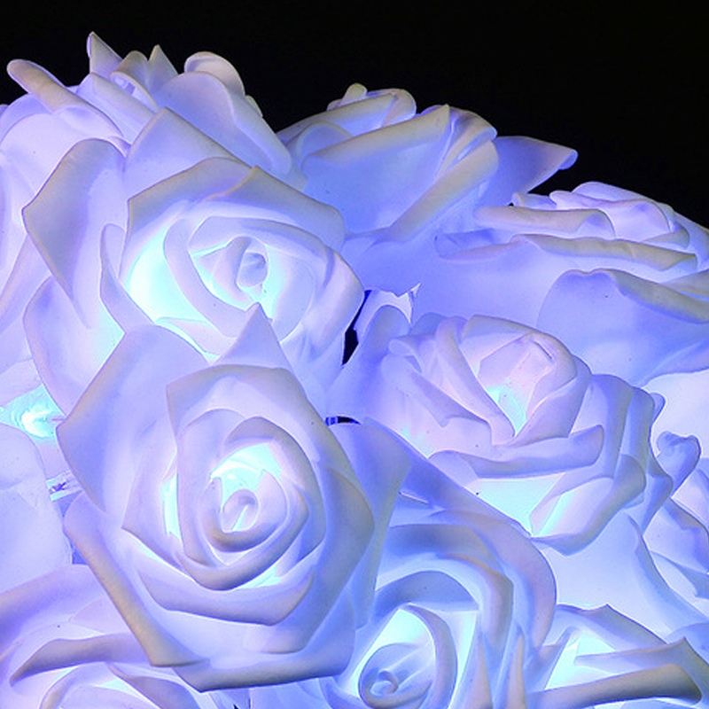 Mode AC110-240V 5M 20leds Holiday Lighting LED Nyhet 6cm Stor Rose - Festlig belysning - Foto 6