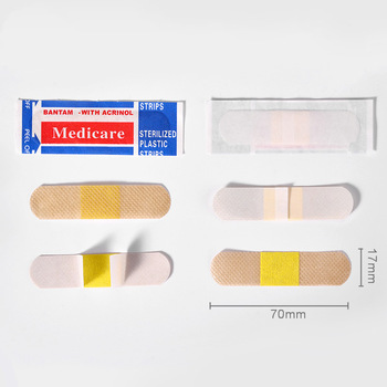 100Pcs/Pack Non-woven Wound Adhesive Plaster Medical Anti-Bacteria Band Aid Bandages Sticker Home Travel First Aid Kit Supplies 2