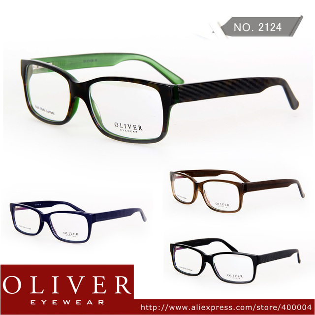 New High Quality 2013 Hot Fashion Acetate Optical Eyeglasses Brand Eye Glasses Frames Oliver 2124