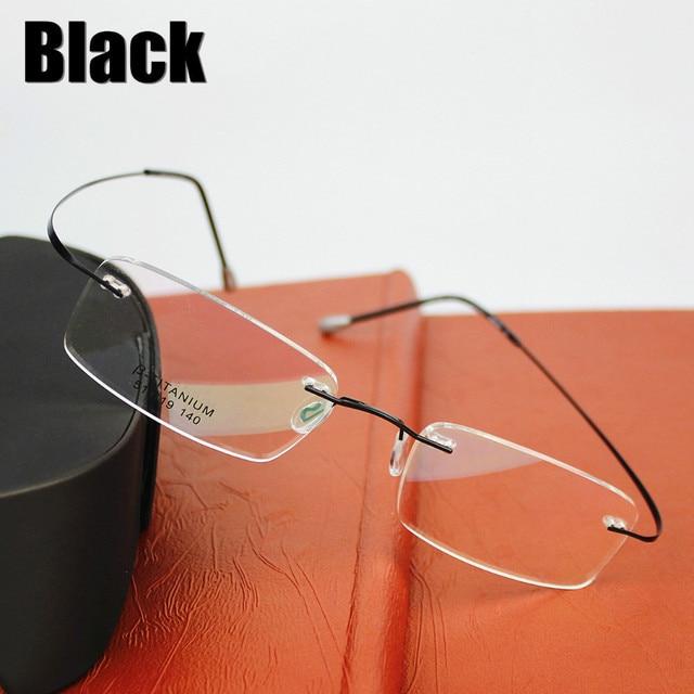 2015 Nova Marca de Óculos Silhueta de Titânio óculos de Armação das  mulheres Dos Homens Com 3f1bdd968a