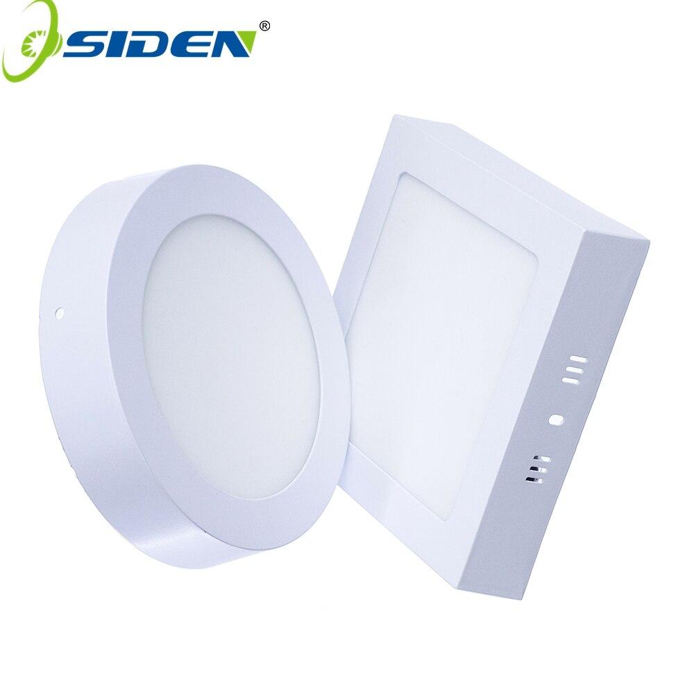 OSDEN AC 85-265V LED světlo panelu 2835SMD 6W 12W 18W 12W 24W LED stropní světlo kulaté Ultra tenké LED svítidlo vnitřní osvětlení