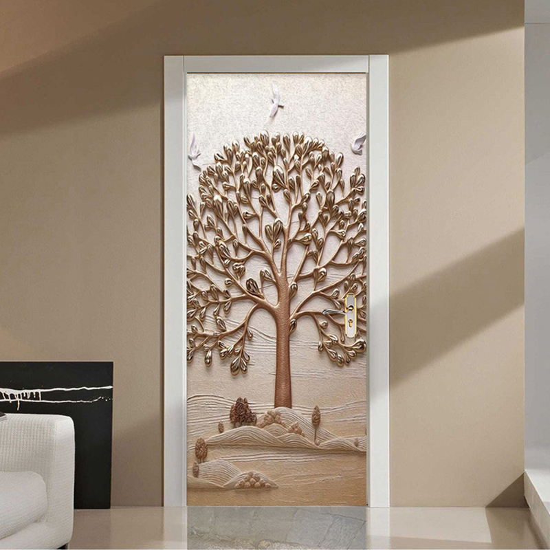 Modern Creative 3D Stereo Tree Mural Wallpaper Living Room Bedroom Door Sticker Art Decor PVC Self Adhesive Waterproof Wallpaper