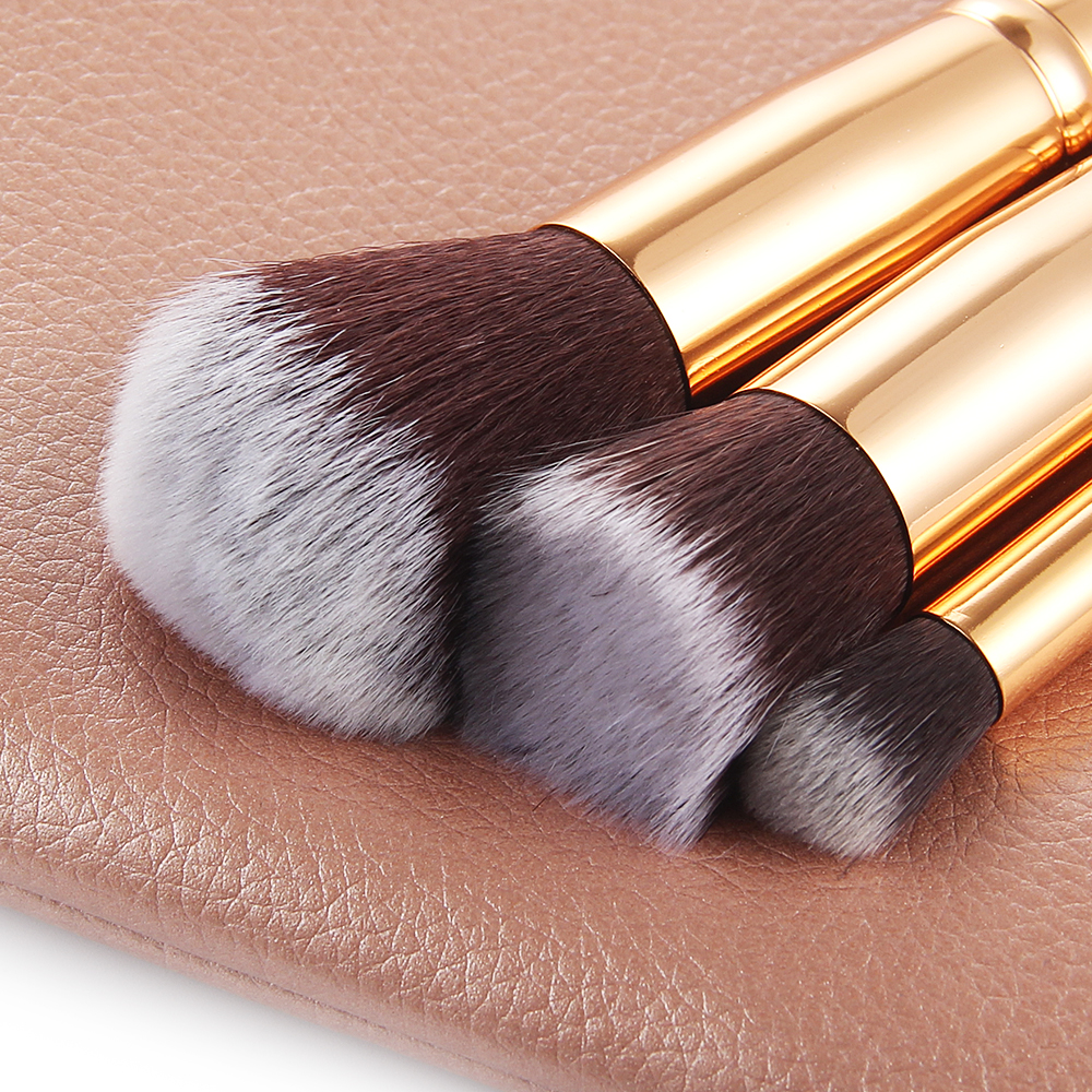 10/15pcs Makeup Brushes Set Pincel Maquiagem Powder Eye Kabuki Brush Complete Kit Cosmetics Beauty Tools with Leather Case 3