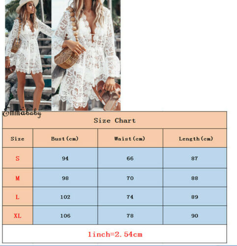 2019 New Summer Women Bikini Cover Up Floral Lace Hollow Crochet Swimsuit Cover-Ups Bathing Suit Beachwear Tunic Beach Dress Hot 5