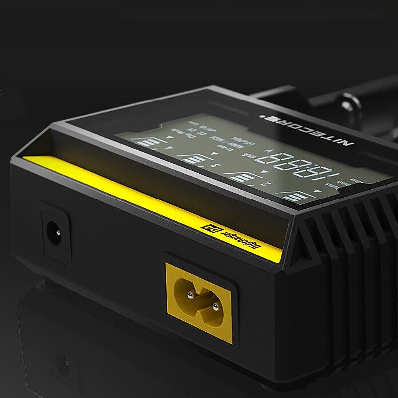 Image 5 - 100% Original Nitecore D4 Battery Charger LCD Intelligent Charger  Li ion 18650 14500 16340 26650 AAA AA 12Vaaa aaoriginal nitecore  d4nitecore d4