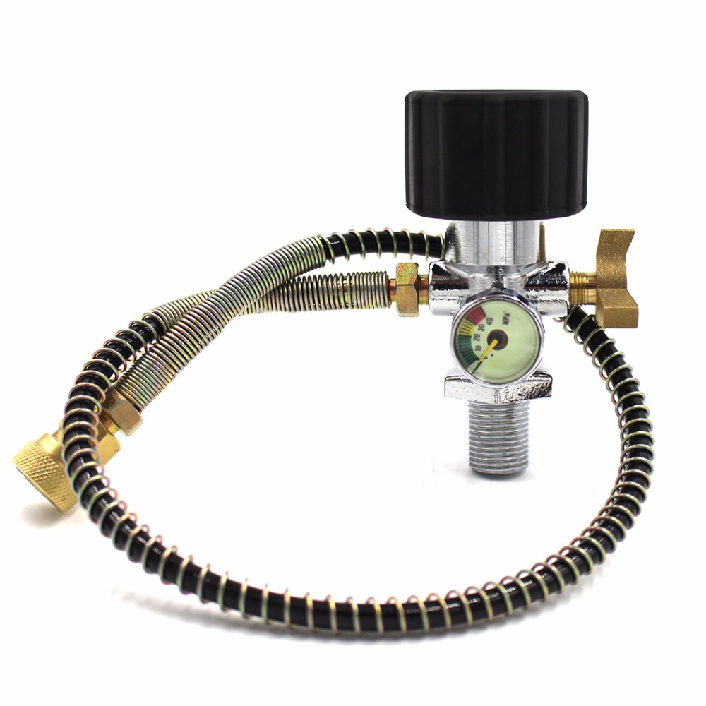 PCP Scuba Diving Brand New Style Din Valve Filling Station Refill Adapter with 40mpa Gauge 50cm High Pressure Hose M18x1.5