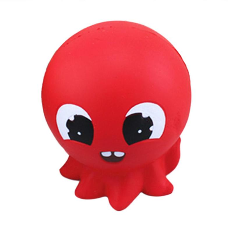 Lovely Simulation Octopus Squeeze Slow Rising Jumbo Fish Animal Soft Squeeze Cream Scented Bread Cake Fun Toy Gift For Kids