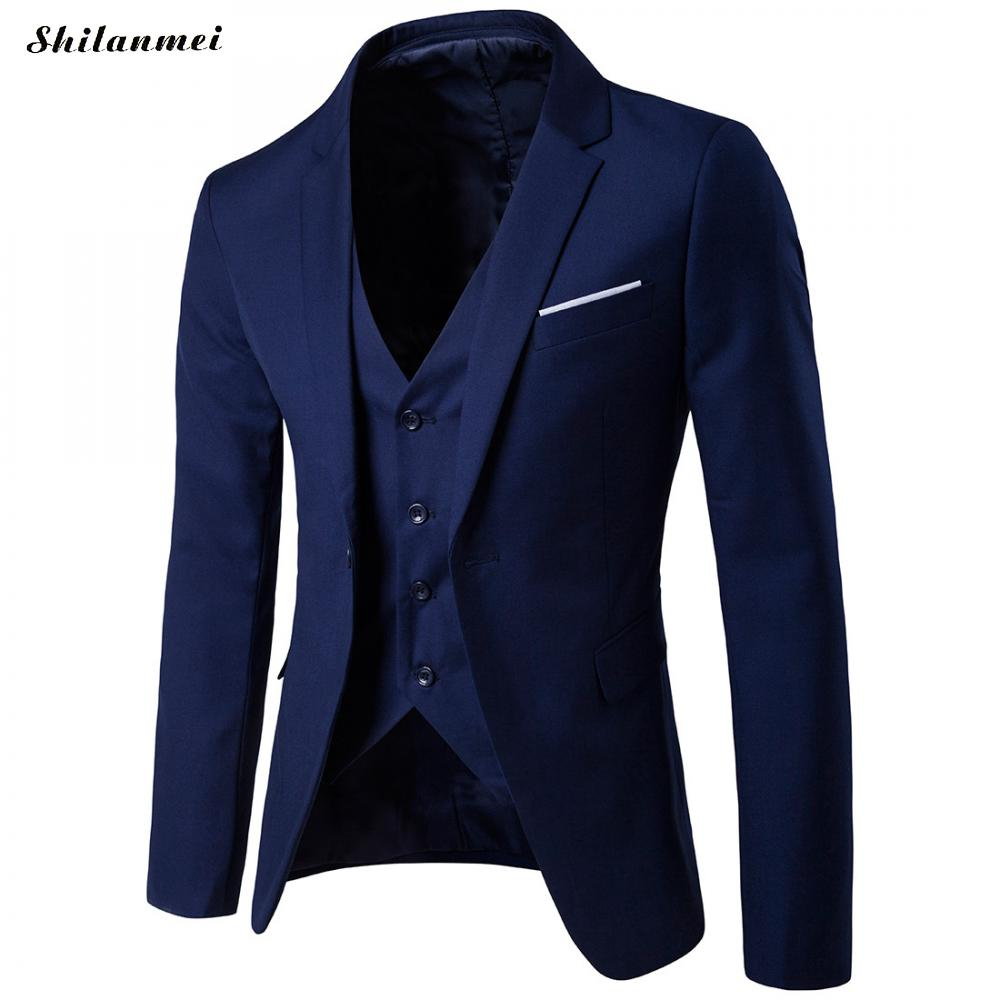 2018 wine dark dark black light Casual Taille Male Red Gilet Color Marié Blue Light 3 Mariage Bonne veste La De Mens Plus Pantalon Costumes Peiece Nouveau Red Blue sea Blue navy purple Qualité Grey Grey rAfqgr