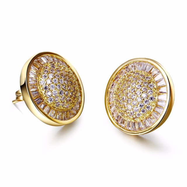 Love Deluxe Earrings- Free shipping Top quality jewelry Classic style Round Crystal wedding bouquets High quality cc earings