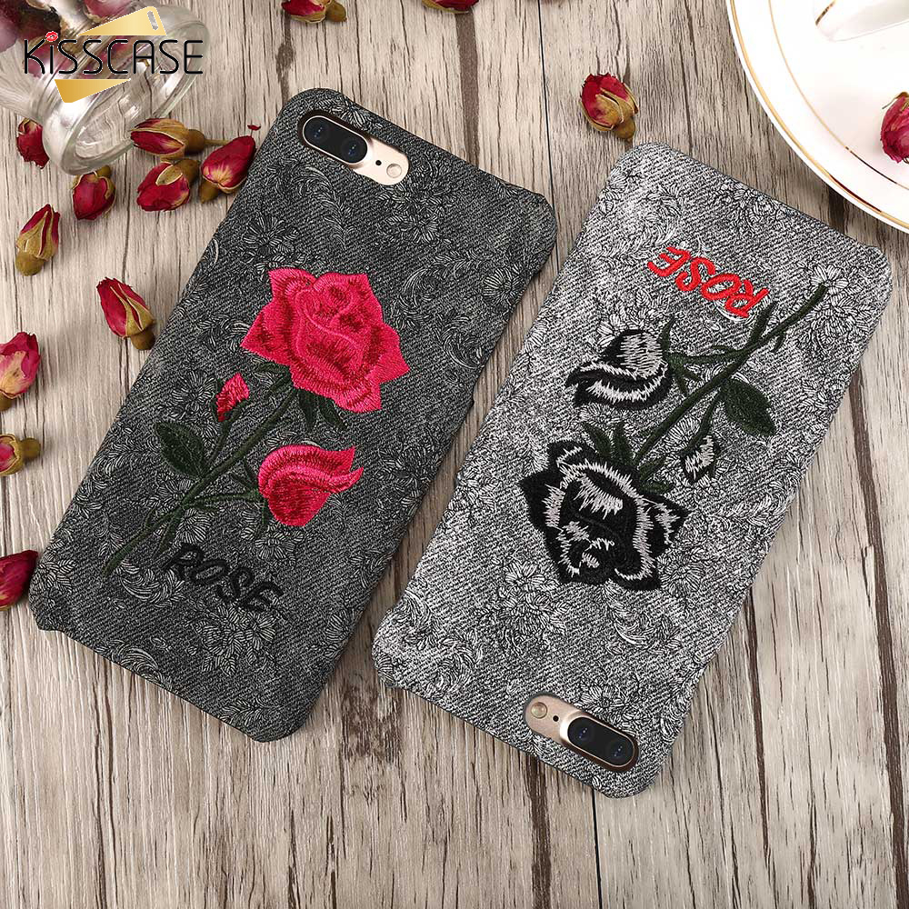 KISSCASE Girly Rose Case For iPhone 6 S 7 Plus 5 SE Cover Fundas For Xiaomi Renmi 4 Pro Mi 5 For Huawei P8 P9 Lite Floral Coques