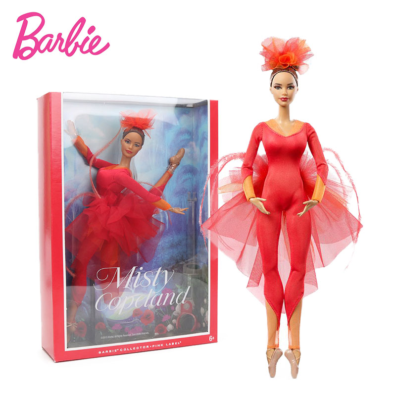 New Original Barbie Doll Misty Copeland Barbie Colletor Pink Label Action Figure Model Dolls Barbie Toys Birthday Gift for Girl original barbie toys barbie musician doll & playset barbie dolls set collector model figure all joints toy gift for girls boneca