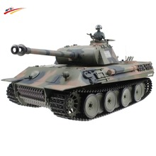 HengLong RC Tank German Panther 2 4G Armored Vehicle Remote Control Battle Tank Airsoft Smok Sound