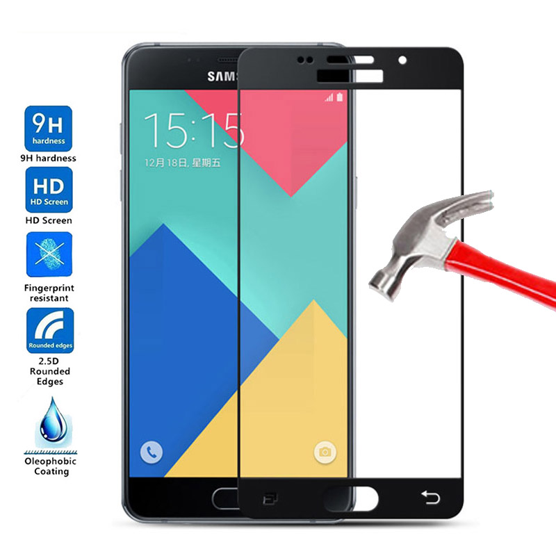 For Samsung A7 2016 A710 A710F 2.5D Premium Tempered Glass For Samsung A7 2016 Full cover film