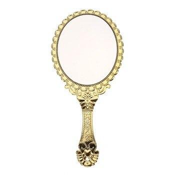 Espejo cosmético Vintage portátil para maquillaje, espejo redondo ovalado, herramienta de belleza 2017 para restauración de antiguas formas