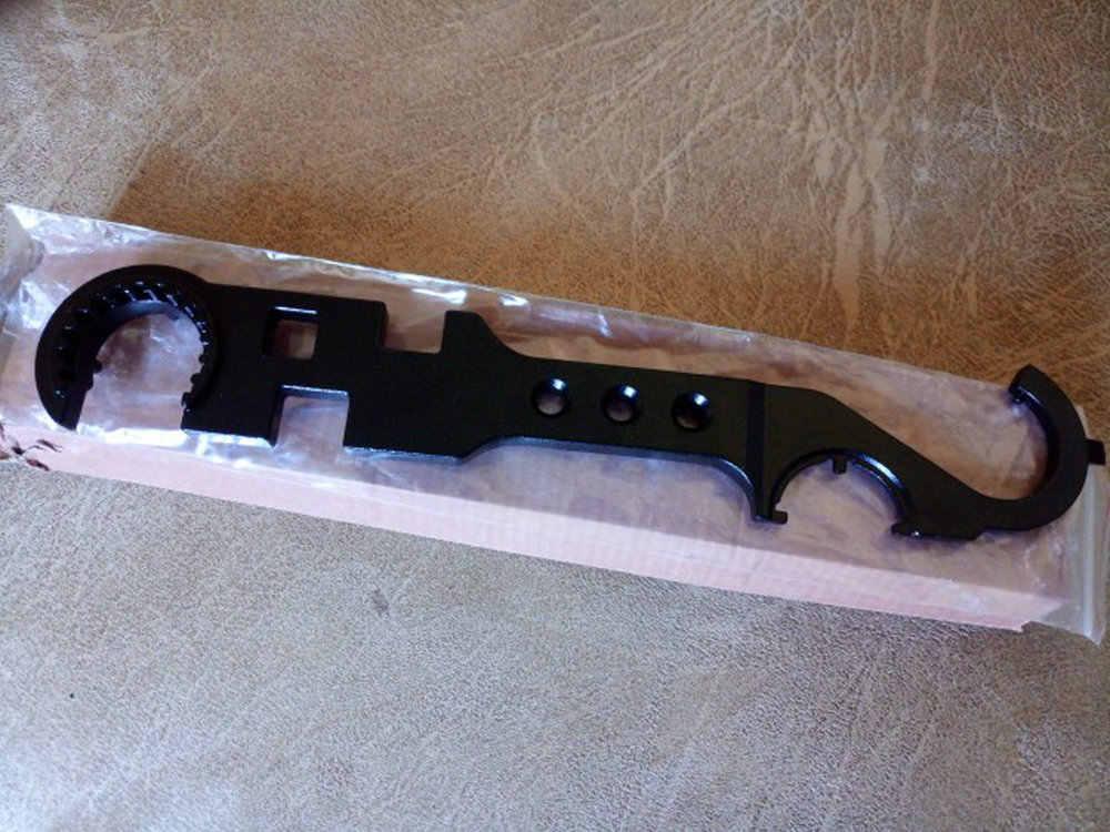 AR15 كومبو أداة مفتاح الربط يشمل القلعة الجوز وجع برميل الجوز وجع خيرة أنبوب أداة كمامة الفرامل فلاش المخفي Handguard أداة