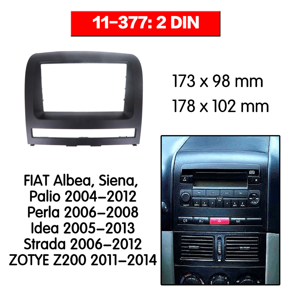 Double Din Fascia For FIAT Albea Siena Palio Perla Idea Radio DVD Stereo Panel Dash Mounting Installation Trim 2 din 11-377