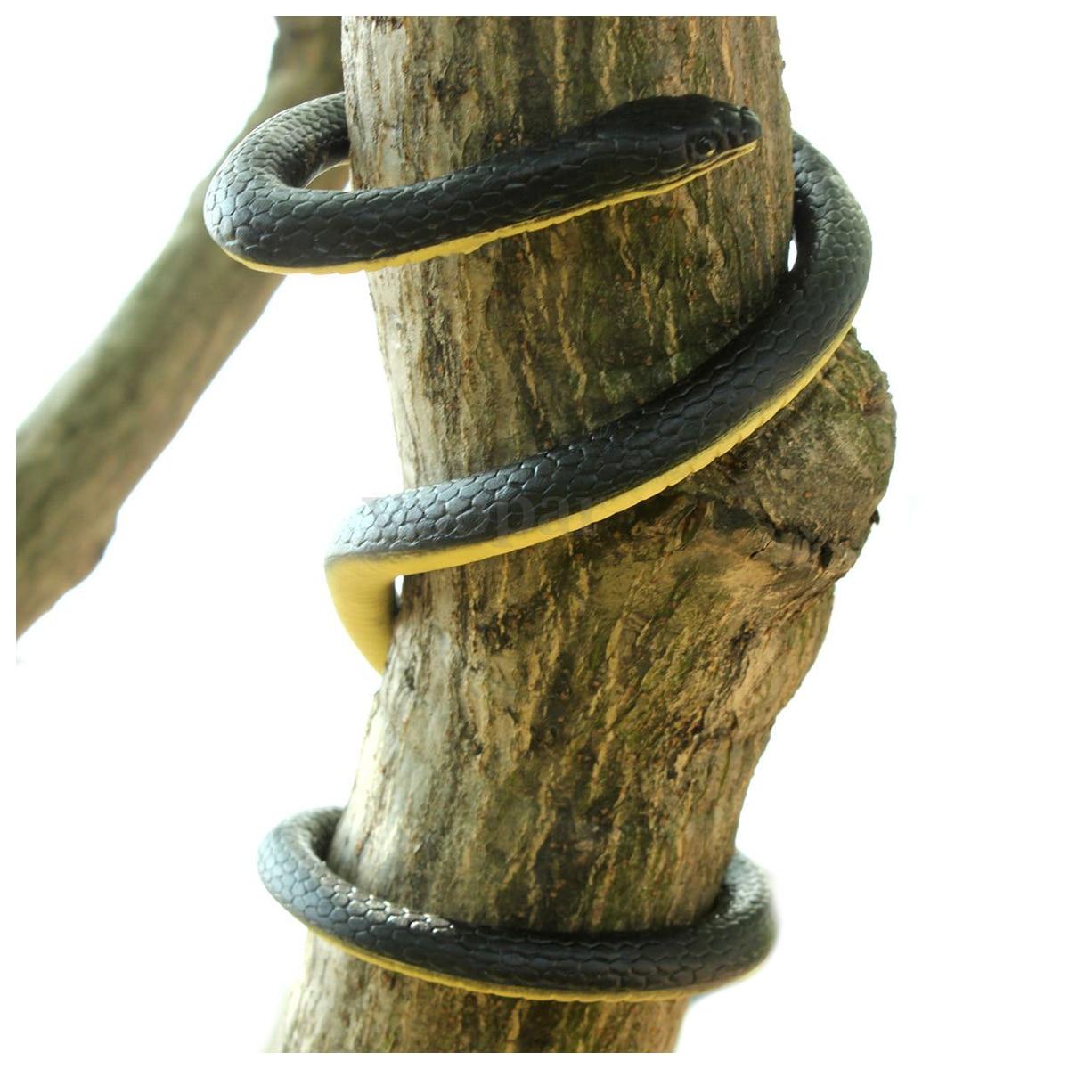 52 Realistic Soft Rubber Snake Toy Home Garden Trick Joke Prank Halloween Prop