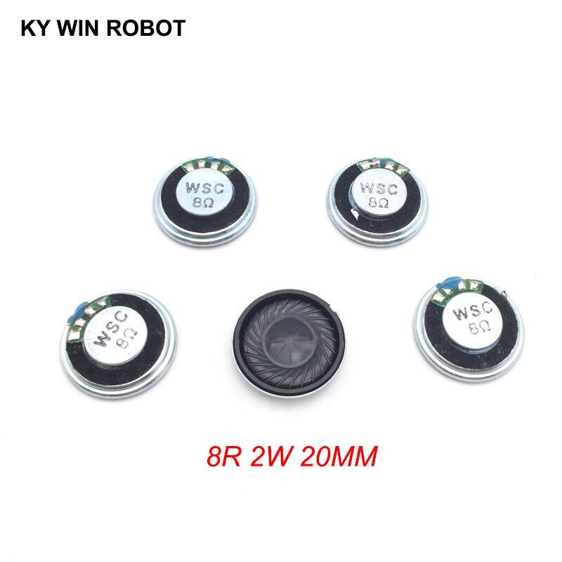 5pcs/lot New Ultra-thin Mini Speaker 8 Ohms 2 Watt 2W 8R Speaker Diameter 20MM 2CM Thickness 5MM