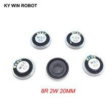5pcs/lot New Ultra-thin Mini speaker 8 ohms 2 watt 2W 8R Diameter 20MM 2CM thickness 5MM