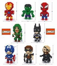 Collegamento linkgo blocchi diy costruzione giocattoli super hero spiderman brinquedo batman juguetes anime figures ironman giocattoli per bambini 68100(China)