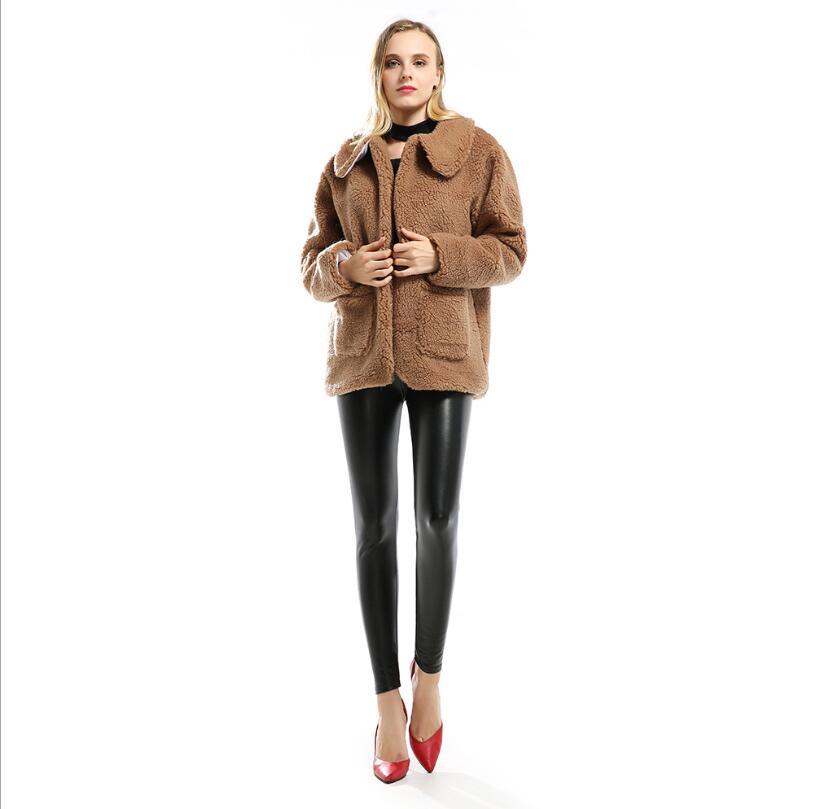 Bf Automne Nouveau De Mode Veste Style D'hiver 2018 D'agneau Fourrure Et Femmes Casual Imitation Cardigan Manteau Épaississement tI6xvd