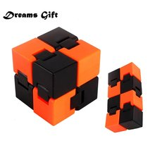 New Infinity Cube Fidget Cube Fold Relieves Squeeze Fun Stress Anxiety Magic Stress Cube Desk Toys for Adults Children JY38(China)
