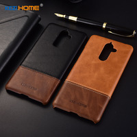 KEZiHOME Luxury Genuine Leather Case For Nokia 7 Plus Hit Color Anti Knock Hard Back Cover