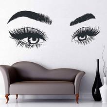Eye wall applique eyelash sticker make-up girl eyebrow decoration beauty parlor G10