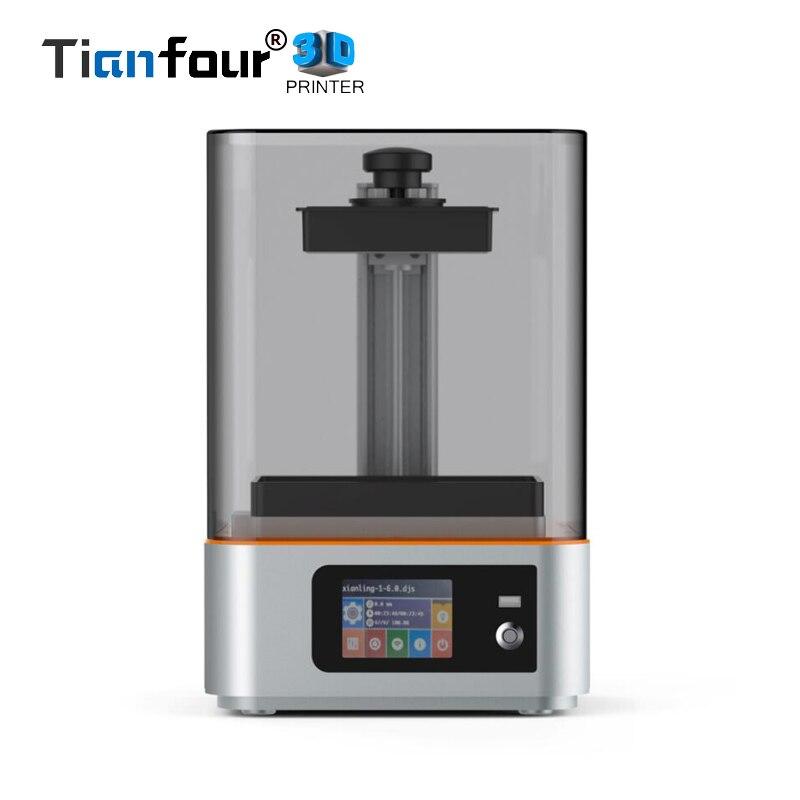 Nuovo Tianfour Scultore UV che cura wifi SLA/LCD 3d stampante di grande volume di stampa di 133*75*180 millimetri con 405nm UV resina DLP Impresora regalo