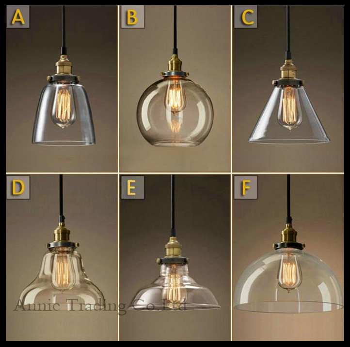 Ac100 240v lustre classic vintage light cafe creative glass pendant bar lamp - Luminaire suspension ikea ...