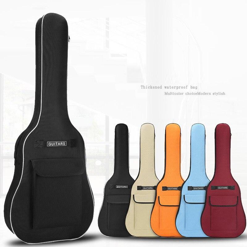 40/41 인치 옥스포드 패브릭 어쿠스틱 기타 기가 바이트 가방 소프트 케이스 더블 어깨 스트랩 패딩 기타 방수 배낭 5mm 코튼