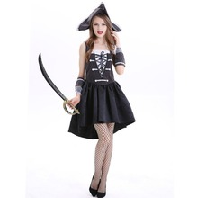Free shipping Women Halloween costumes European and American velvet womens dress game costume ball pirate for women
