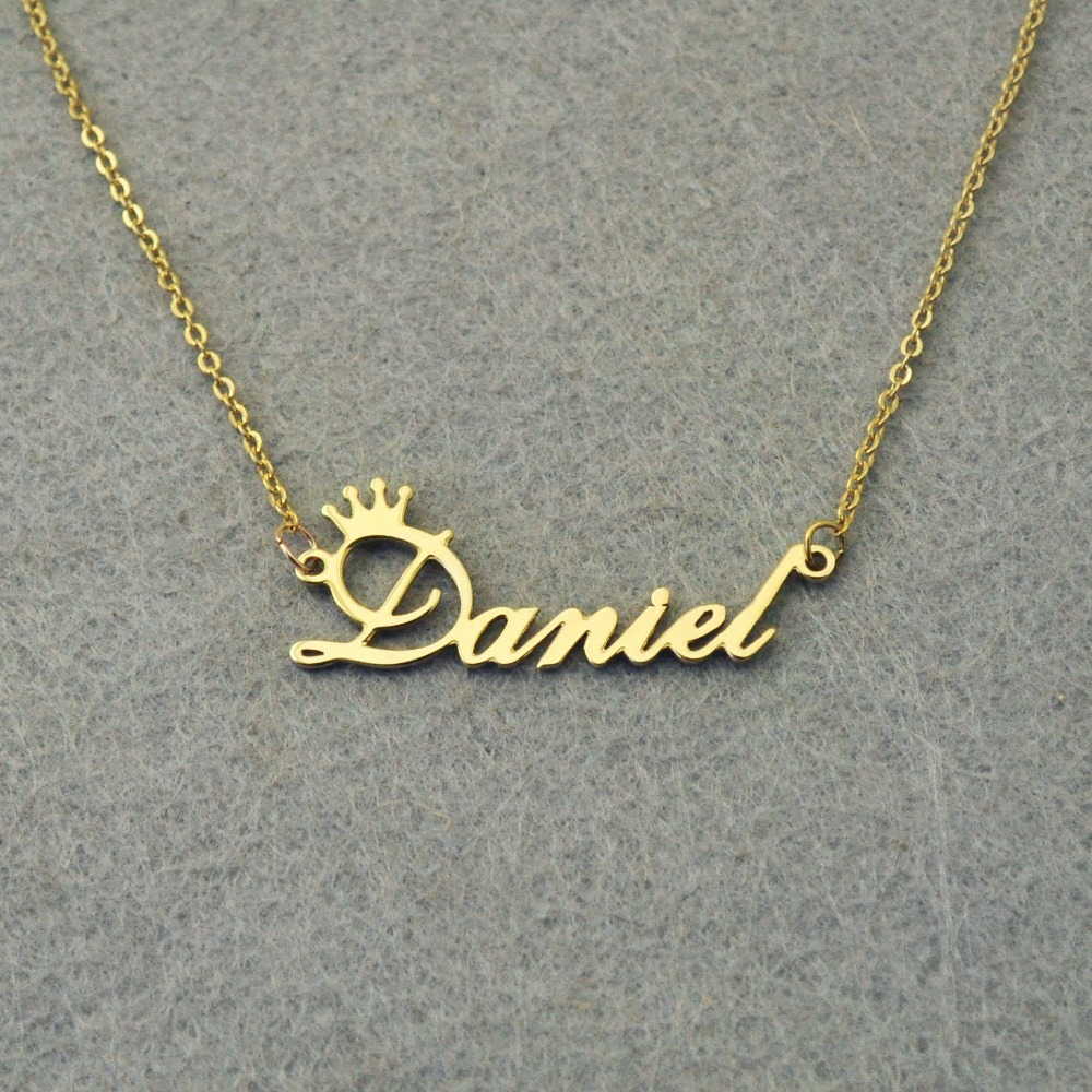 Aliexpress Com Buy Personalized Name Necklace Custom