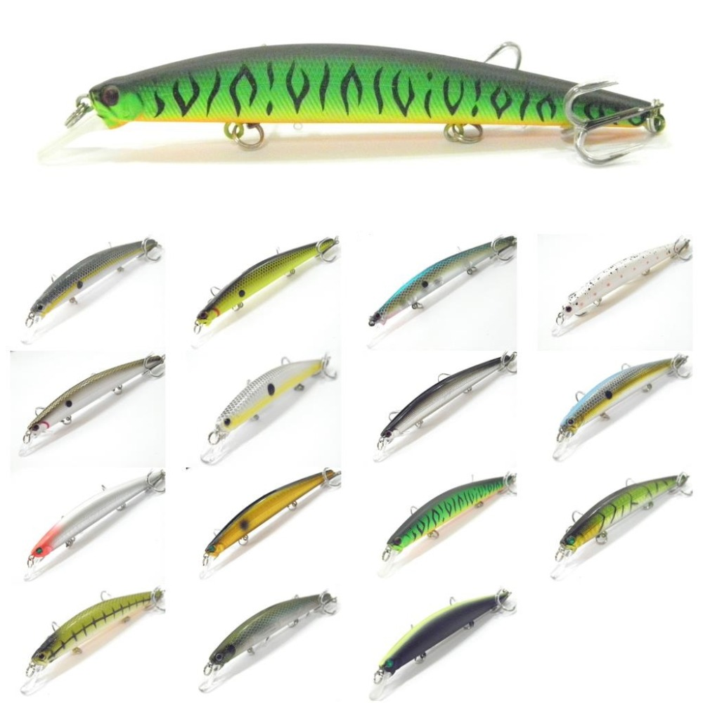 wLure Minnow Crankbait Hard Bait Tight Wobble Jerkbait Slow Floating Epoxy Coating on Finish 12.7cm 12.5g Fishing Lure M672 5pcs lot minnow crankbait hard bait 8 hooks lures 5 5g 8cm wobbler slow floating jerkbait fishing lure set ye 26dbzy