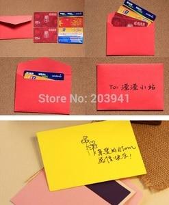 Image 5 - 200pcs/lot  New Cute Vintage Candy color series DIY Multifunction Wedding Invitation Envelope Christmas Gift Envelope