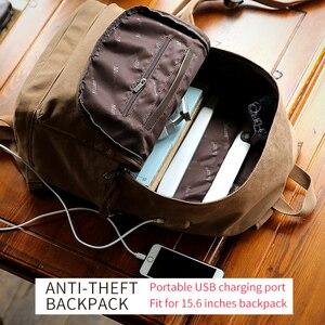 Image 2 - Muzee sac à dos en toile Anti vol pour les étudiants, Design avec chargeur USB, Design pour adolescents, sac à dos de voyage, nouvelle collection