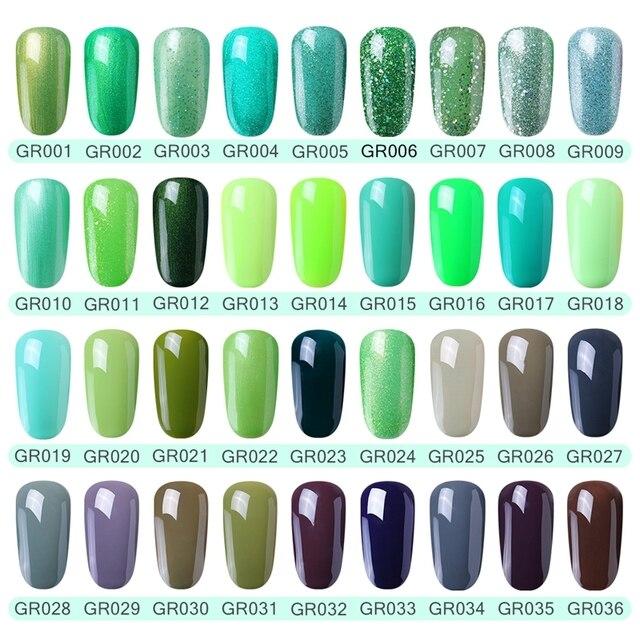 Elite99 Nagel Gel Polnisch Hohe Qualität Nail art Salon Tipps 10ml Grün Farbe Tränken weg von Organische UV LED Nagel gel Lack