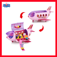 Peppa Pig Action Figure Diy Toy Airship Ship Model George family trip Play House Toy set Puzzle Toys for Children Gifts