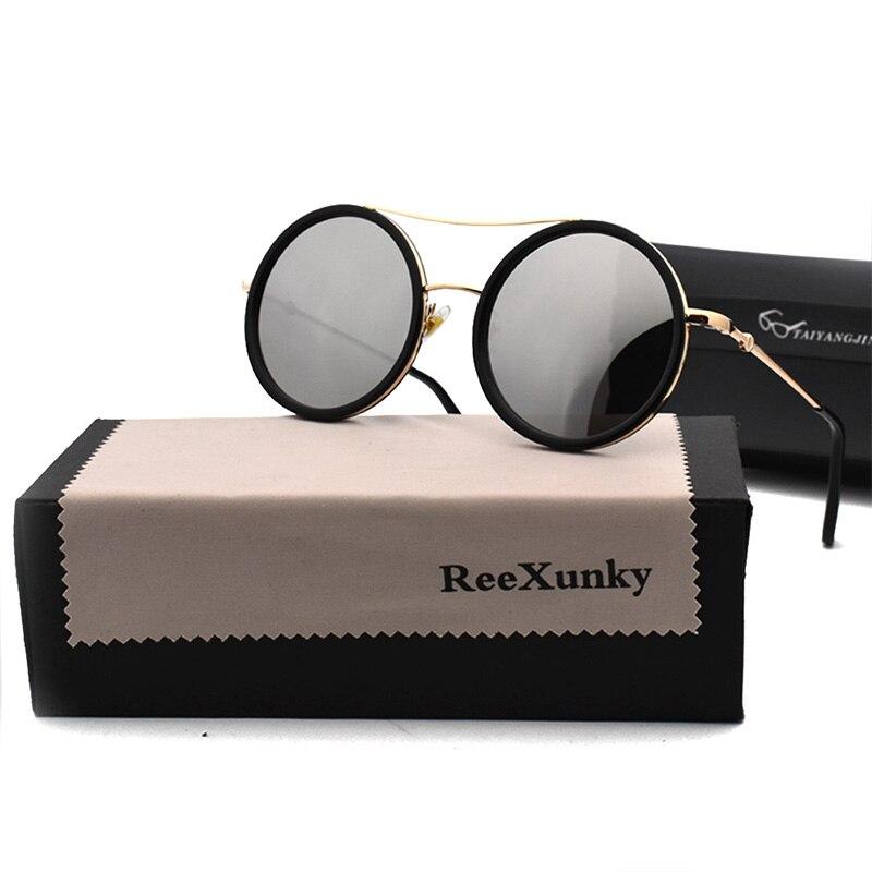 Fashion Vintage Brand Designer Silver Mirror Sunglasses Women 2019 Metal Frame Ladies Sunglasses Men Shades Top zonnebril dames in Women 39 s Sunglasses from Apparel Accessories
